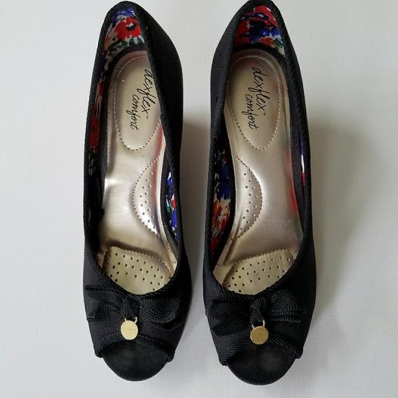 d496dab3309 dexflex comfort Shoes - Dexflex Comfort Black Fabric Wedges